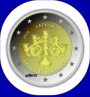 2020 Latvia Lettland 2 EURO Münze Latgalian Keramik Kerzenhalter  COIN R