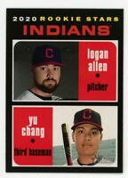 2020 Topps Heritage #231 LOGAN ALLEN YU CHANG Cleveland Indians Rookie Card RC