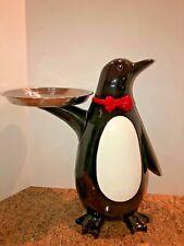 Penguin Butler Restaurant Figurine Statue Or Home Decor Black/White Red 19.5�
