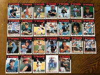 1986 MINNESOTA TWINS Topps COMPLETE Baseball Team SET 26 Cards PUCKETT HRBEK!