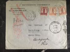 1945 Casablanca Morocco Commercial Airmail Cover Industrial Equipment To Usa