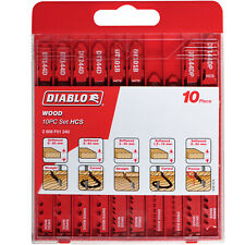 Diablo - Jigsaw Blades - Wood Set (10-Piece) HCS - High Quality - Brand New Set