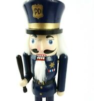 Nutcracker Policeman First Responder Handmade Holiday Christmas 10 in. Wood