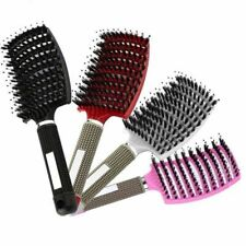 Hair Scalp Massage Comb Hairbrush Bristle Nylon Women Wet Curly Detangle Hair