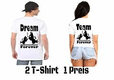 Dream TEAM T SHIRT partner look 2 Pezzi Hipster couple molti COLORE NEW XS - 5xl