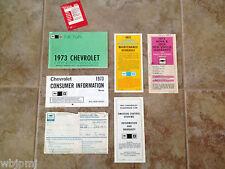 1973 Chevrolet Nova Factory GM Original Owners Manual Set Complete