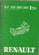 RTA B.V. 352 385 395 RENAULT manuel de reparation BOITE DE VITESSE 18 FUEGO 20 5