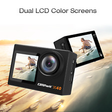Campark Action Camera 4K 20MP Dual Screen EIS Remote Control WiFi Waterproof