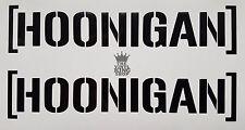 2 x Hoonigan Vinyl Decal Stickers Block Car Side Mirror Wing Mirror Van 13cm