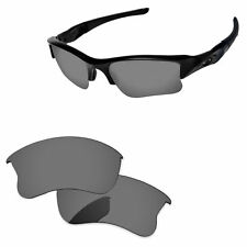 Black Iridium Polarized Replacement Lenses For-Oakley Flak Jacket XLJ Sunglasses