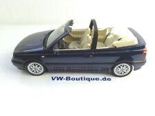 + VOLKSWAGEN VW Golf 3 Cabrio von NOREV 1:18 blau NEU 188434