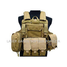 TATTICO TACTICAL VEST CIRAS TAN  RP-1026T PER SOFTAIR E MILITARI