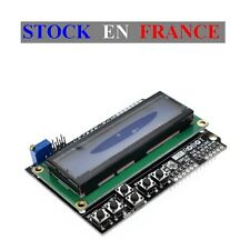 Module Ecran LCD Keypad Shield 2x16, 1602, 5V, Retroeclairage Bleu , Arduino