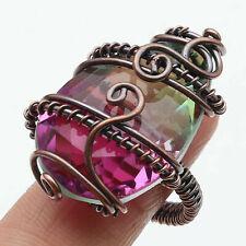 Ametrine Quartz Copper Wire Wrapped Ring US 9 Gemstone Jewelry W5878