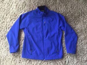 Orvis  Fishing Jacket Fleece Lined Softshell DWR Finish Men's Large Royal Blue