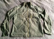 Vintage Alpha Industries khaki olive military M65 field jacket bomber, sz M, VGC