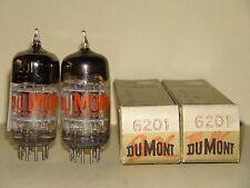 2 Dumont 6201 12AT7 WA ECC81 3MICA Vacuum Tubes Results= 5400/5650 5375/4850