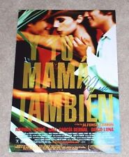 Director Alfonso Cuaron Signed 'Y Tu Mama Tambien' 12X18 Movie Poster W/Coa