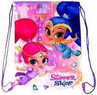 Kids Childrens Girls Shimmer and Shine School Bag PE Swimming Gym Bags Rucksack