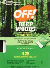 OFF! Deep Woods Insect Repellent Towelettes Unscented 12 towelettes Per Box