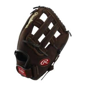 RAWLINGS Preferred P130HFL 13 Inch Adult Leather Black Baseball Softball Glove