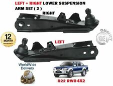 FOR NISSAN D22 PICKUP 2.5 4x2 NP300 1998-> LEFT + RIGHT LOWER 2 SUSPENSION ARMS