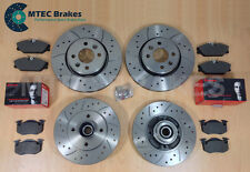 Clio 2.0 172/182 01-05 Drilled Grooved Front Rear Brake Discs & Brembo Pads ABS