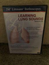 Learning Lung Sounds Version 2.0 3M Littmann Stethoscopes Cd-Rom