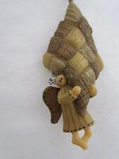 Inner Light Angel & Quilt Ornament Honey & Me Lisa Liffick Design EIL10841 NEW