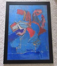 LARGE MID CENTURY CUBISM EXPRESSIONISM PAINTING ABSTRACT PRAYER MEDITATION AMATO