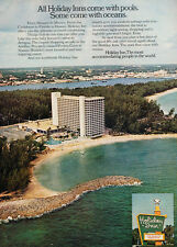 1972 Holiday Inn  Hotel Beach  - Original Advertisement Print Ad J161