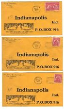 US 1930's INDIANAPOLIS IND PARAMOUNT OPTICAL CO SIX COVERS VARIOUS FRANKINGS
