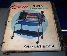 sun electric  1011 engine  performance analyzer instruction manual pdf book cd