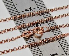9 CT ROSE GOLD ON SILVER SOLID 20inch BELCHER LINK CHAIN - 2.9 grams