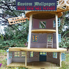 Custom Wallpaper | for Sylvanian Families FIELD VIEW MILL | Calico Critters