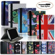 Folio Leather Rotating Stand Cover Case For Kobo / Aura Tablet + Stylus