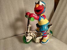 "2000 Mattel Sesame Street Elmo Scooter Toy With Press And Go Action 8"" Tall"