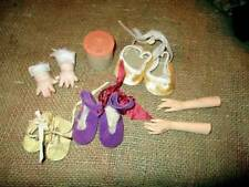 VINTAGE DOLL LEATHER SUEDE SHOES, ARMS AND SQUEAKER ACCESSORIES & PARTS