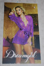 Womens Lingerie SEXY ORCHID PURPLE SHEER LACE ROBE & PANTY Dreamgirl XL 16-18