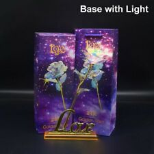 Galaxy Gold Foil Rose Artificial Forever Flowers with Love Base Stand -Best Gift