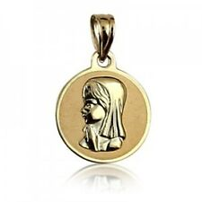 20% SALE! - Genuine 9Ct YG Young Madonna Round Charm - RRP $139.95