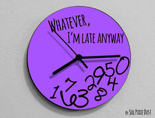 Whatever I'm Late Anyway / Round Purple - Wall Clock