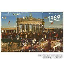 Brandenburg Gate 1989 image from 9 Phone Cards-framed.