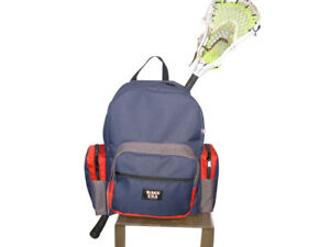 Lacrosse Backpack,lacrosse equipment backpack, hidden stick sleeve,Made in USA.