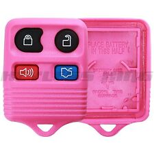 New Pink Replacement Keyless Entry Remote Car Key Fob Shell Case Button Pad