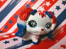 Dog 2 Faded Patriotic 4th of July * OOAK Hand Painted Custom Littlest Pet Shop