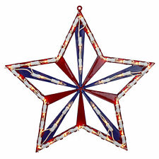 "Northlight 14"" Lighted Red White Blue 4th of July Star Window Silhouette Decor"