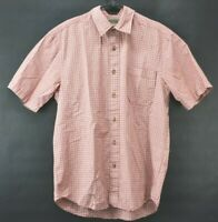 Eddie Bauer Sport Shop Mens Medium Short Sleeve Cotton Casual Button Up Shirt