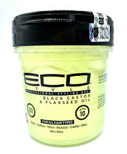 Eco Style Black Castor & Flaxseed Oil Styling Gel - Hair Growt 8 oz