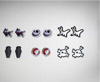 Nightmare Before Christmas Stud Earring Set Jack Sally Zero Teddy Set 6 Gift
